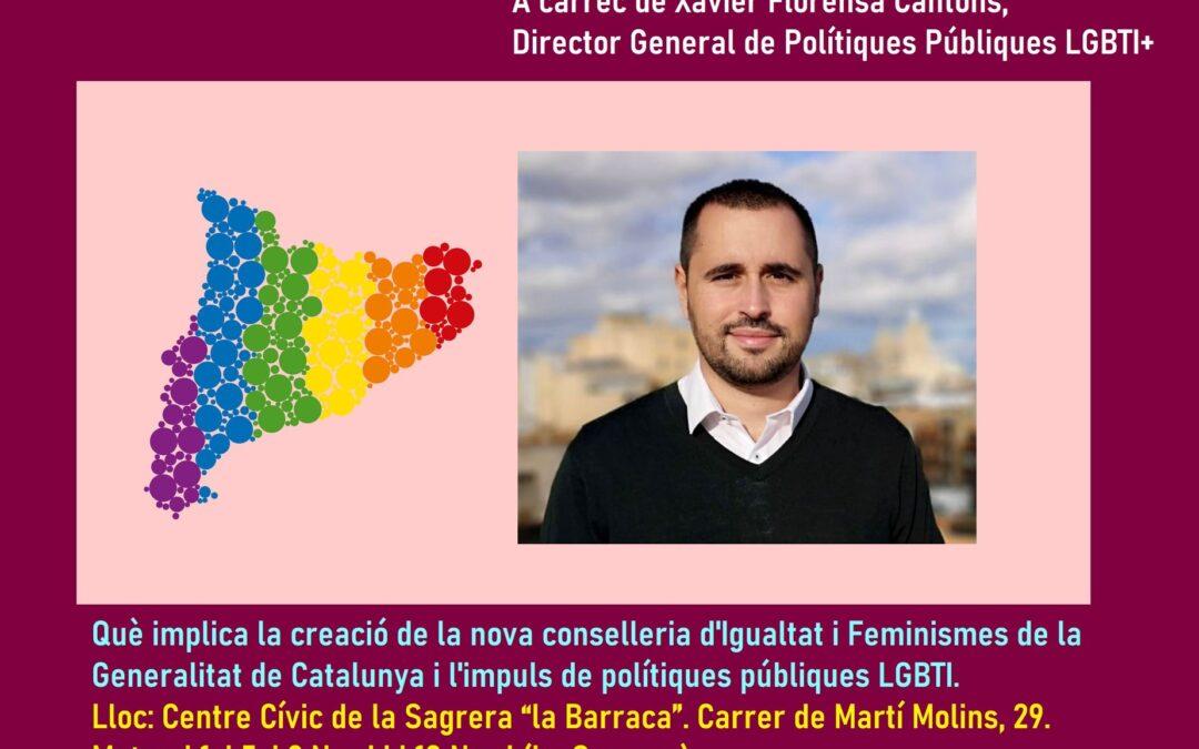 Sábado, 23 de Octubre – 18h: Las Políticas LGTBI+ del Gobierno de Cataluña
