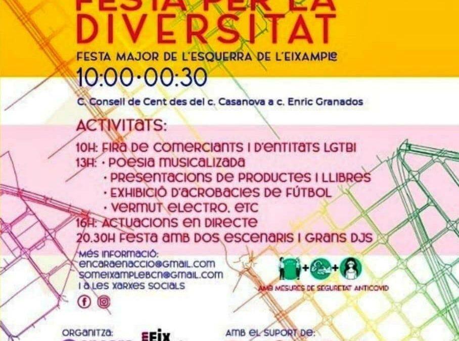 Sábado, 2 de octubre a las 18h: Fiesta de la Diversidad